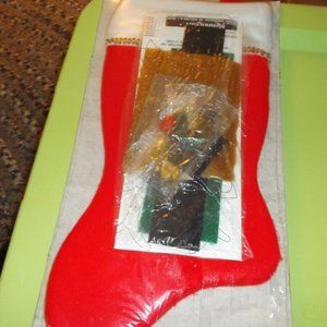 none Accents - vintage christmas stocking kit to make